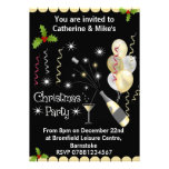 Christmas Party Invitation - Black & Gold