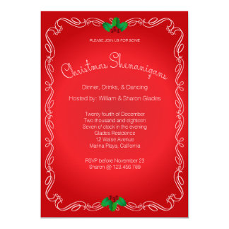 Christmas Party Invitation Calligraphy Border