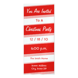 Christmas Party Invitation - Candy Cane