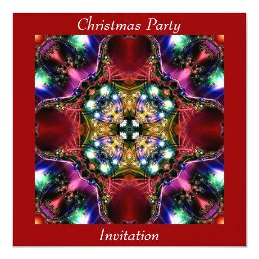 "Christmas Party  Invitation Card 5.25"" Square Invitation Card"