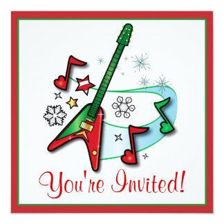 Christmas Party Invitation: Christmas Rock Guitar