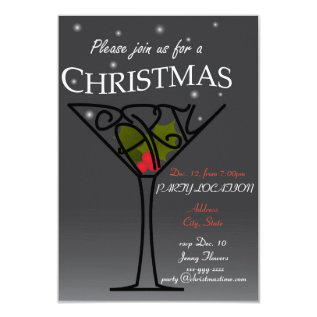 Christmas Party Invitation design at Zazzle