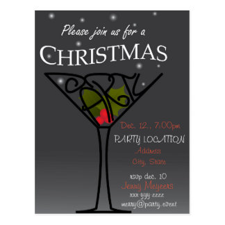 Christmas Party Invitation design Postcard