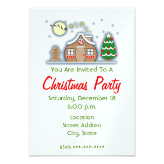 Christmas Party Invitation - Gingerbread House
