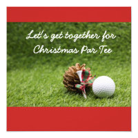 Christmas Party Invitation golfer
