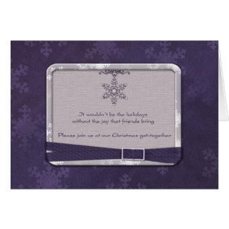 Christmas Party Invitation Greeting Card