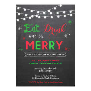 Christmas Party Invitation / Holiday Invitation at Zazzle
