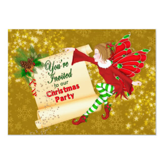 CHRISTMAS PARTY INVITATION - KIDS- CHRISTMAS FAIRY