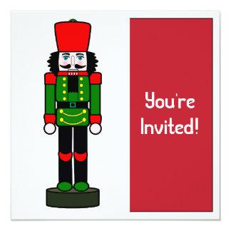 """Christmas Party Invitation Nutcracker 5.25"""" Square Invitation Card"""