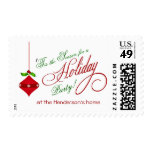 Christmas Party Invitation Postage Stamps