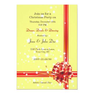 Christmas Party Invitation - Red Ribbon