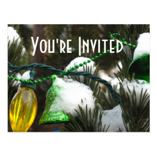 Christmas Party Invitation template Postcard