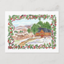 Christmas Party Invitation Victorian Country Home