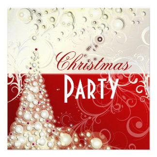 Christmas Party invitations champagne bubbles