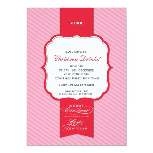 CHRISTMAS PARTY INVITATIONS :: lapel 1P