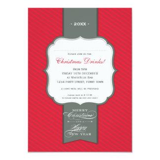 CHRISTMAS PARTY INVITATIONS :: lapel 6P
