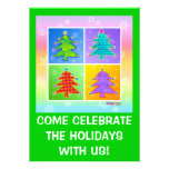 Christmas Party Invitations - Pop Art Christmas Tr