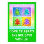 Christmas Party Invitations - Pop Art Christmas Tr