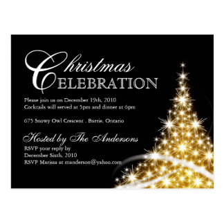 Christmas Party Invitations Postcards