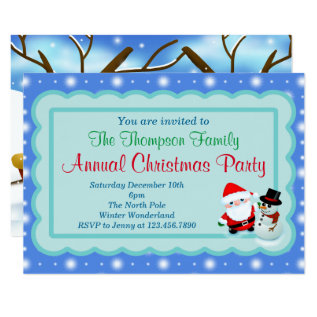 Christmas Party Invite at Zazzle