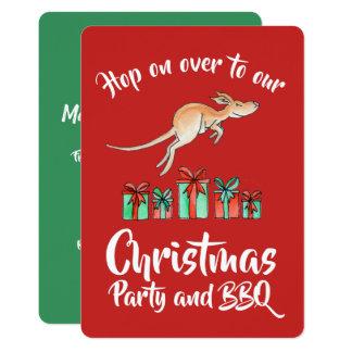 Christmas party kangaroo hop over invitations