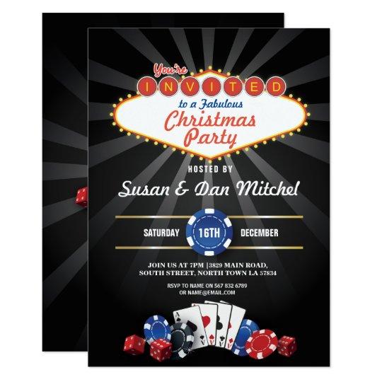 Christmas Party Las Vegas Dice Invite