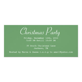 Christmas Party Light Green Invites