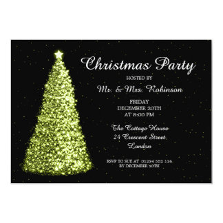 Christmas Party Lime Green Card
