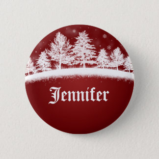 Christmas Party Name Tags Button