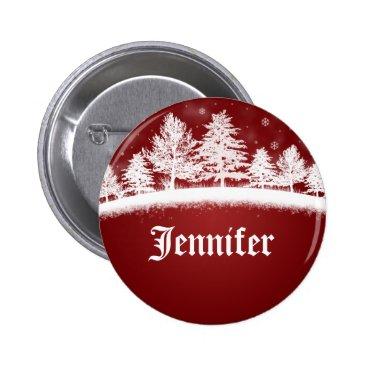Christmas Themed Christmas Party Name Tags Button