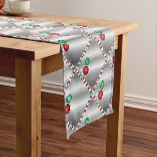 Christmas Party Ornament invitation Short Table Runner