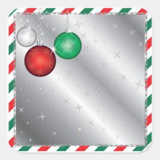 Christmas Party Ornament invitation Square Sticker