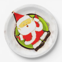 Christmas party paper plate