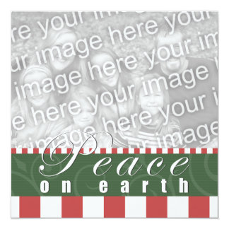Christmas Party Peace on Earth Candy Cane Square Card