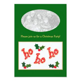 Christmas Party Photo Card Invitation to customize 13 Cm X 18 Cm Invitation Card