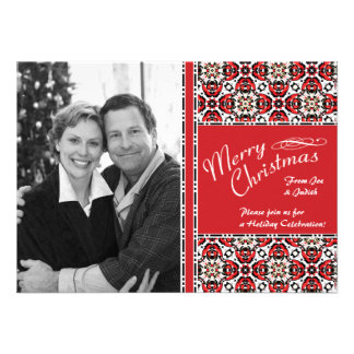Christmas Party Photo Template Invitations