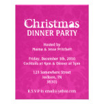 Christmas Party Pink Vintage Invites