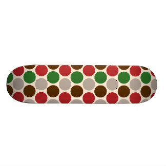 Christmas Party Polka Dots Skateboard