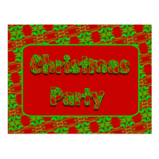 Christmas Party Post Card