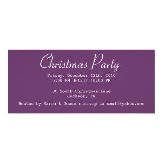 Christmas Party Purple Invites