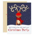 Christmas Party Reindeer Come In Invitation at Zazzle