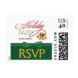 Christmas Party RSVP Postage Stamps