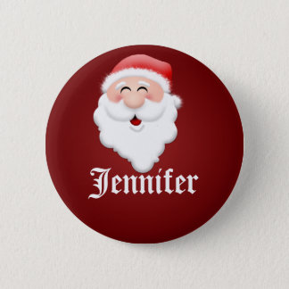 Christmas Party Santa Claus Name Tags Pinback Button