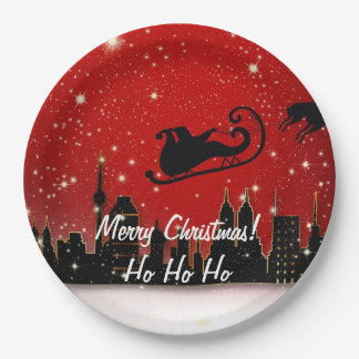Christmas Party Supplies - Paper Plates Gifts
