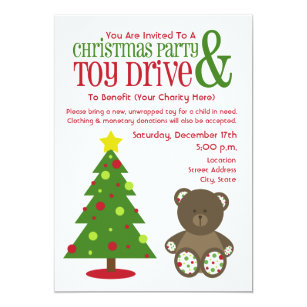 christmas party toy drive invitation - Toy Donations For Christmas