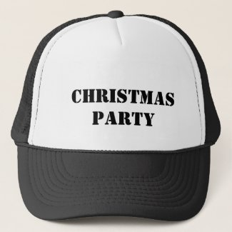 christmas party trucker hat