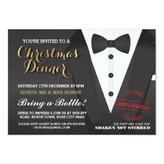 Christmas Party Tuxedo Bow Tie Ball Dinner Invite