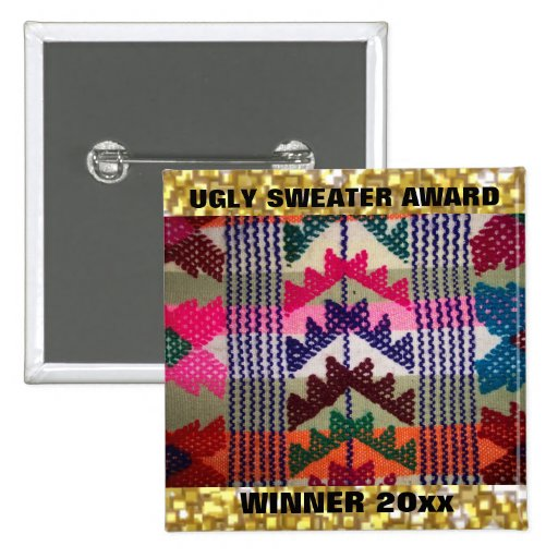 Christmas Party Ugly Sweater Contest Winner Award Button