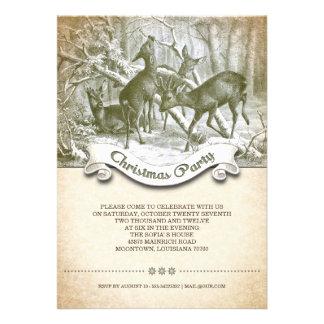 Christmas party unique vintage invitation