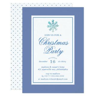 Christmas Party | Watercolor Snowflake Polka Dots Card